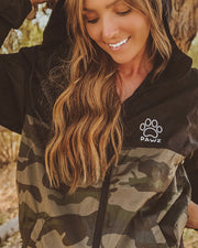Black & Camo Pawz Windbreaker