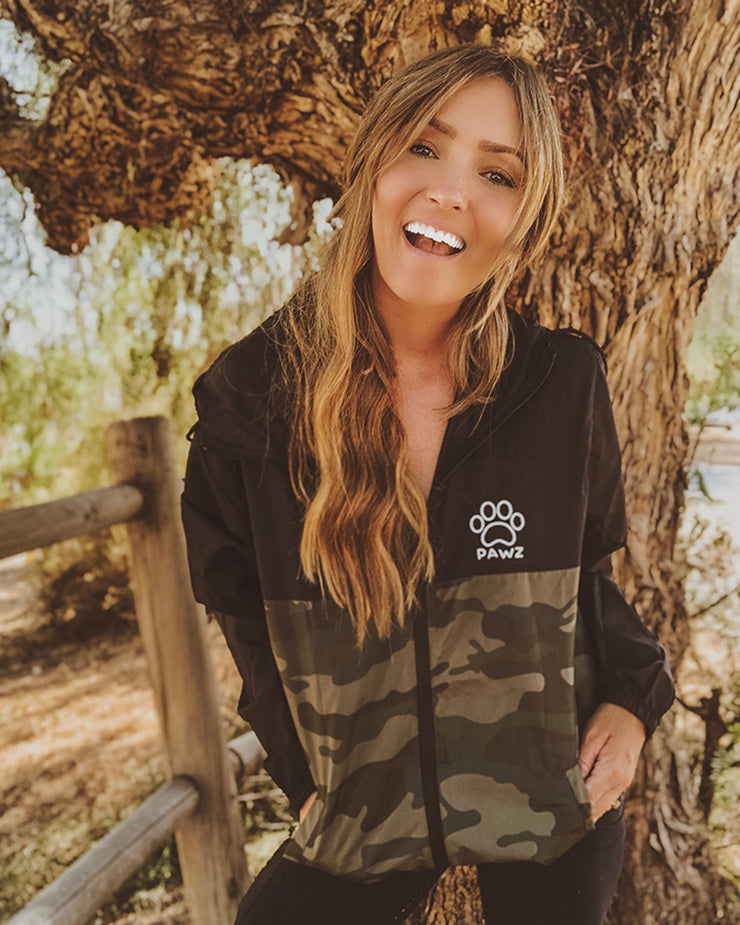 Pawz Black & Camo Windbreaker - Pawz