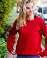 Pawz Boho Tribal Red Crewneck - Pawz