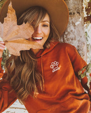 Burnt Orange Fall Leaves Hoodie - Pawz