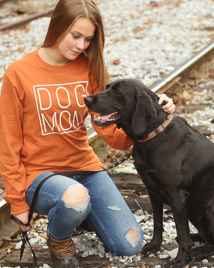 Burnt Orange Simple Dog Mom Long Sleeve - Pawz