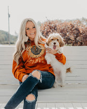Burnt Orange Sunflower Dog Mom Hoodie - Pawz