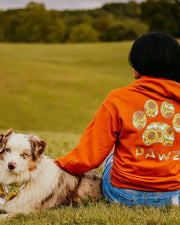 Burnt Orange Sunflower Print Hoodie - Pawz