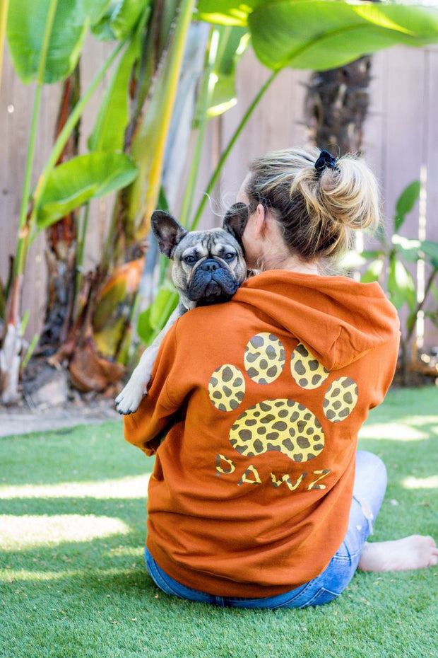 Pawz Burnt Orange Giraffe Hoodie - Pawz