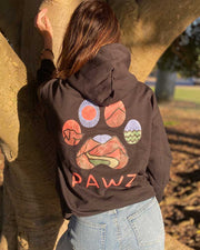 Pawz Colorful Hiking Black Hoodie
