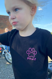 Pawz Kidz Colorful Zebra Black Tee