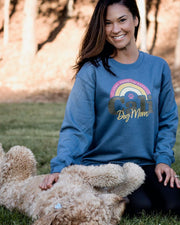 Pawz Cali Dog Mom Indigo Crewneck - Pawz