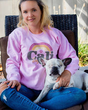 Pawz Cali Dog Mom Grapefruit Crewneck - Pawz