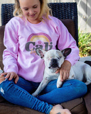 Pawz Cali Dog Mom Light Pink Crewneck - Pawz