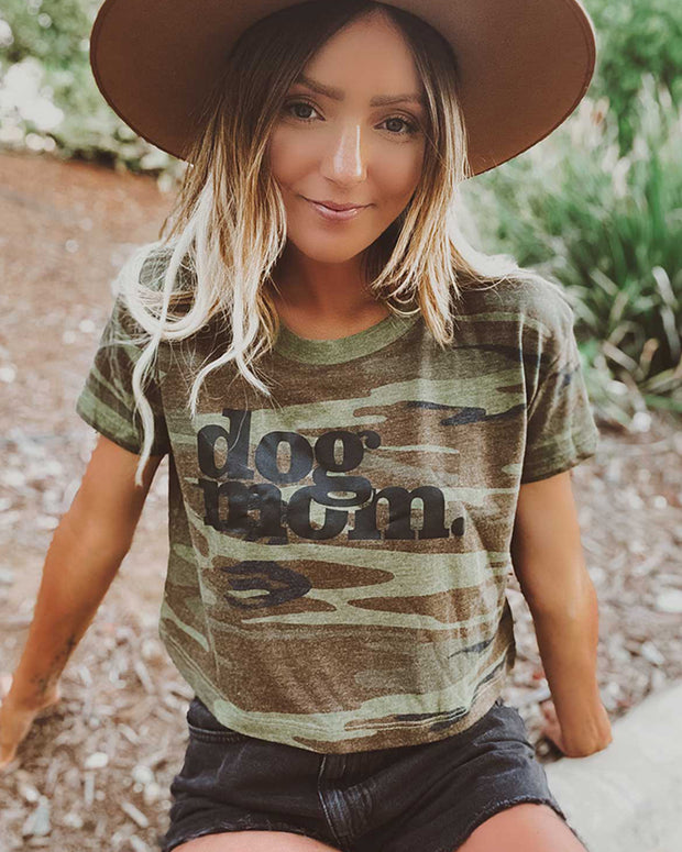 Pawz Dog Mom Camo Crop - Pawz