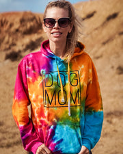 Pawz Celebration Tie Dye Black Simple Dog Mom Hoodie - Pawz