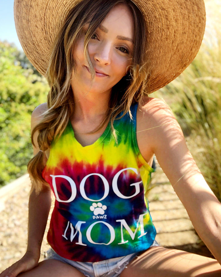 Classic Tie Dye Dog Mom Tank Top - Pawz