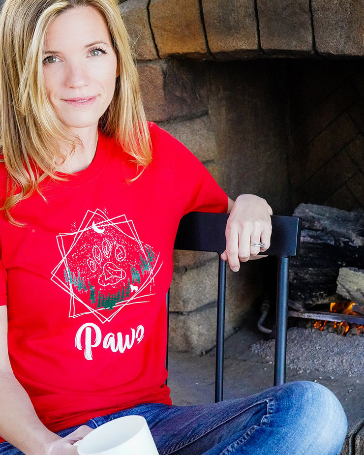 Pawz Winter Constellation Red Tee - Pawz