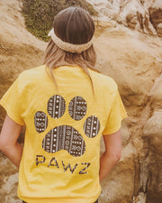 Pawz Boho Tribal Yellow Tee - Pawz