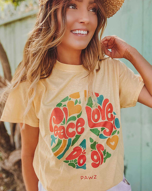 Pawz Peace, Love & Dogs Daisy Tee - Pawz