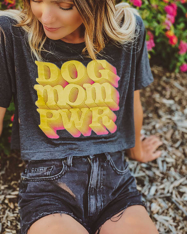 Pawz 80's Dog Mom Pwr Script Crop - Pawz