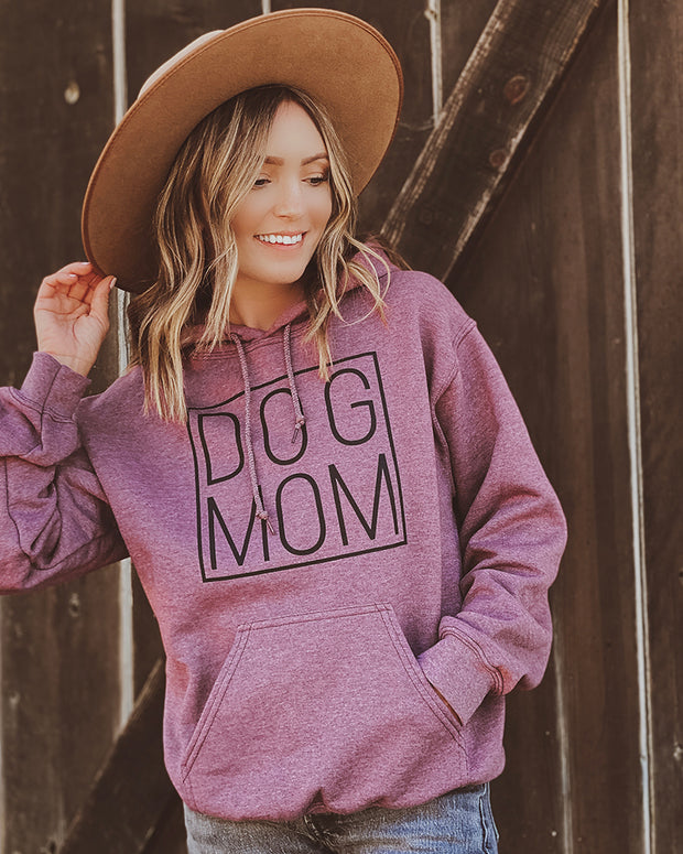 Pawz Simple Dog Mom Black Print Brick Hoodie - Pawz