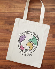 Pawz Earth Day White Tote