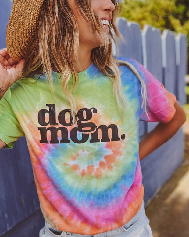 Pawz Eternity Tie Dye dog mom. Tee - Pawz