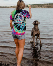 Flashback Tie Dye Peace Sign Tee - Pawz