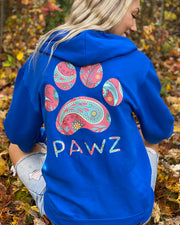 Pawz Folk Paisley Royal Zip Up - Pawz