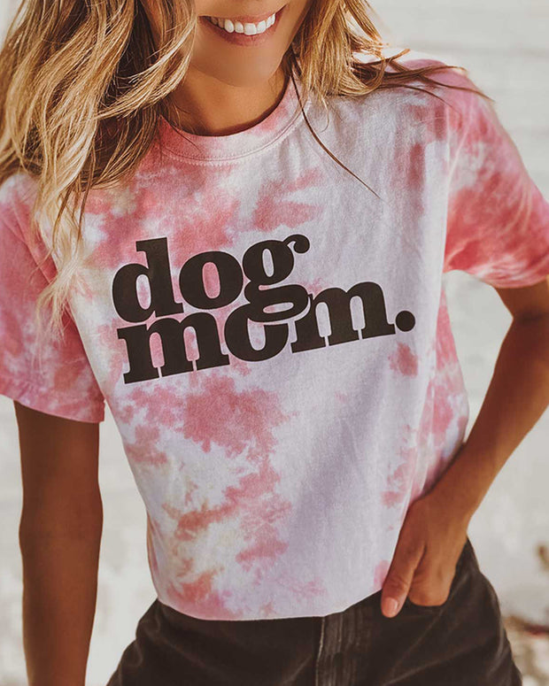 Pawz Funnel Cake Tie Dye dog mom. Tee - Pawz