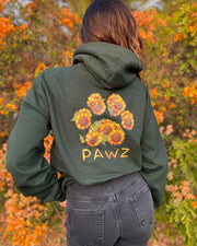 Pawz Sunflower Bouquet Forest Green Hoodie