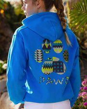 Pawz Geometric Art Royal Blue Hoodie - Pawz
