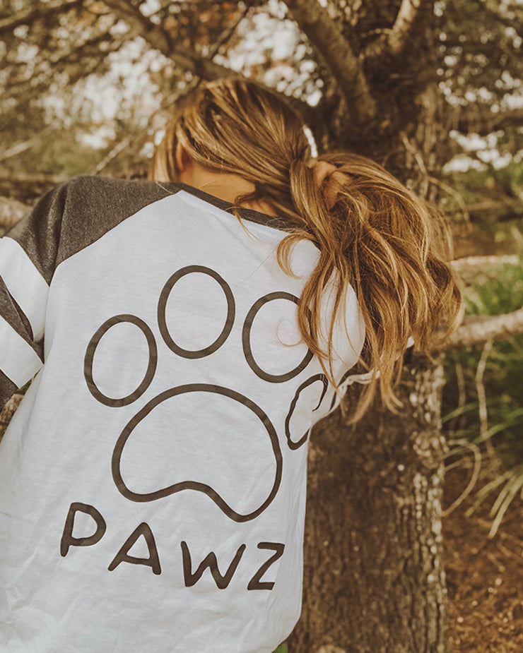 Gray & White Game Day Black Classic Print Long Sleeve - Pawz