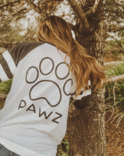 Pawz Black Classic Print Gray & White Game Day Long Sleeve - Pawz