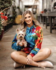 Hooded Celebration Tie Dye Classic Print - Pawz