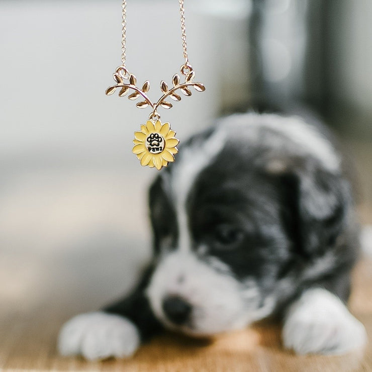 Sunflower Pawz Necklace - Pawz