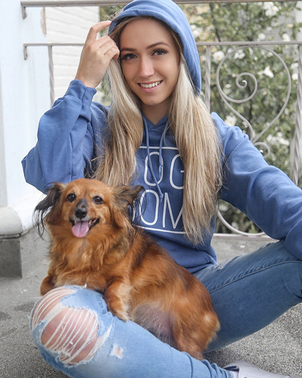 Indigo Simple Dog Mom Hoodie - Pawz