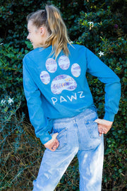 Pawz Gypsy Feathers Indigo Long Sleeve - Pawz