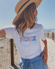 Pawz Rainbow College White Tee - Pawz