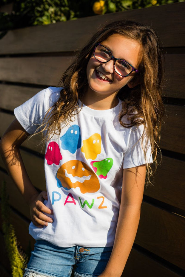 Pawz Kidz Color Pop Ghost White Tee - Pawz