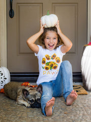 Pawz Kidz Sunflower Bouquet White Tee - Pawz