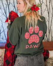 Pawz Knitted Star Pattern Forest Crewneck - Pawz