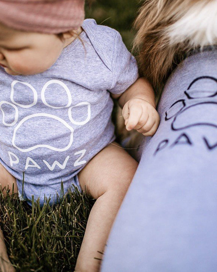 Light Grey Baby Onesie - Pawz