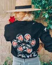 Long Sleeve Black Rose Print - Pawz