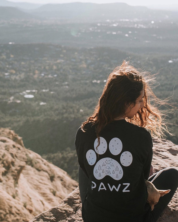Long Sleeve Black Scenic White Print - Pawz