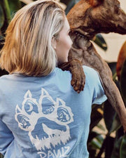 Pawz White Woof Paw Print Carolina Long Sleeve - Pawz