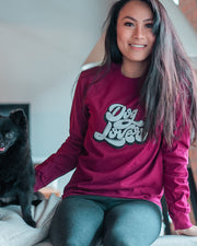 Pawz Dog Lover Front Maroon Long Sleeve - Pawz