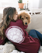 Long Sleeve Maroon Lilly Coin Print - Pawz