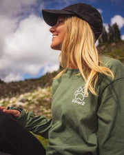Long Sleeve Olive Scenic Print - Pawz