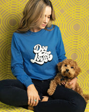 Long Sleeve Sapphire Dog Lover Front Print - Pawz
