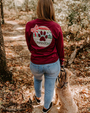 Pawz Christmas Ornament Maroon Long Sleeve - Pawz