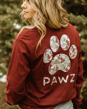 Pawz Home for Christmas Maroon Long Sleeve - Pawz