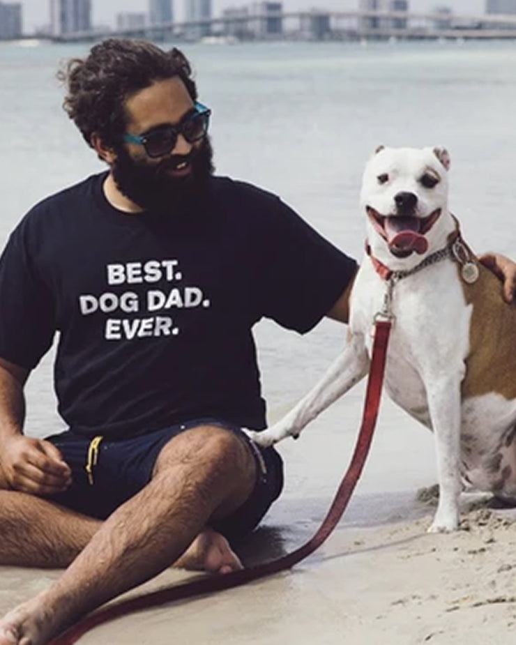 Pawz Men's Best Dog Dad Ever Black Tee - Pawz