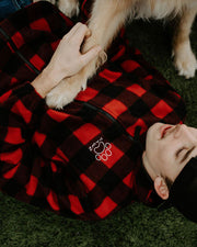 Men's Buffalo Plaid Fleece Jacket - Pawz